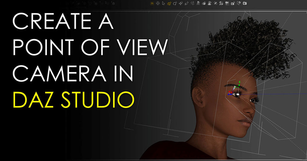 Create a point-of-view camera in DAZ Studio