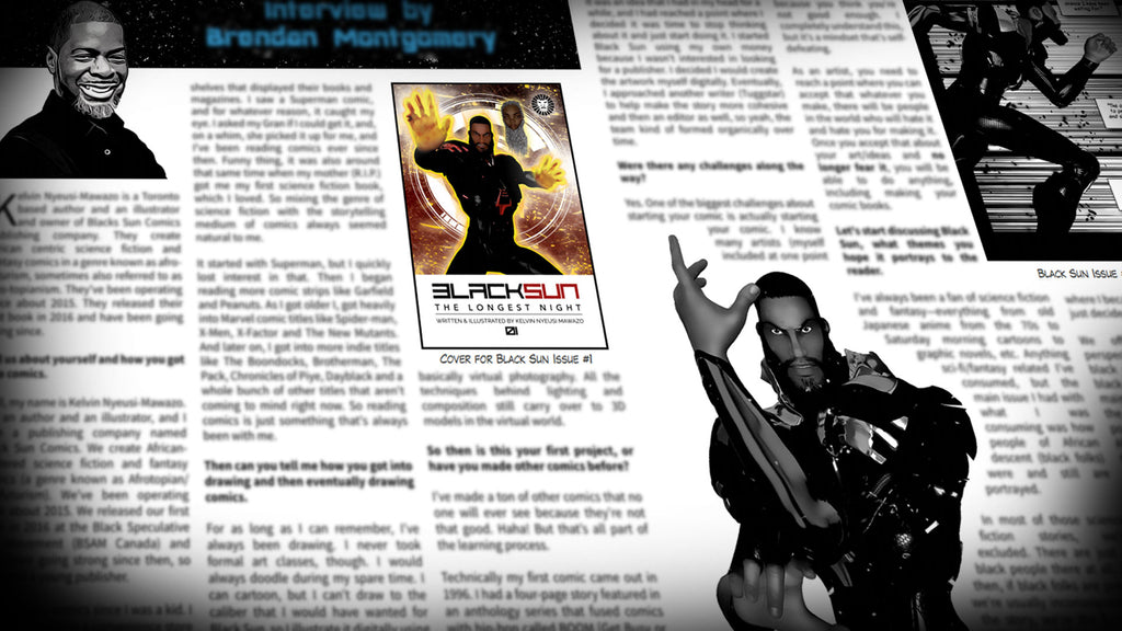 Black Sun Comics in Sequential Magazine