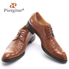 Men's Genuine Leather fashion casual Lace-Up flats shoes Party Wedding shoe for men business BV Oxfords shoes Free shipping