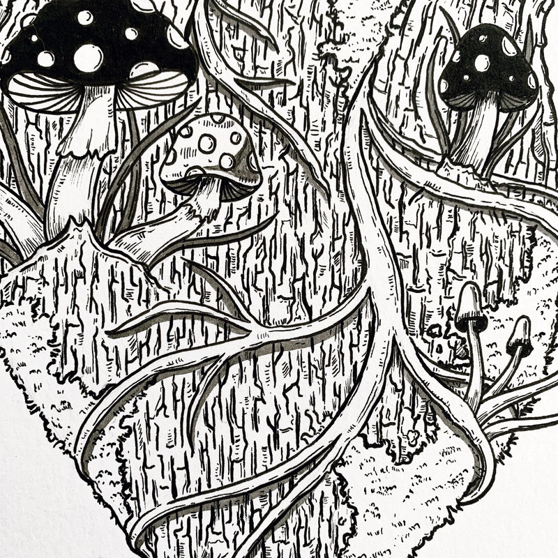 Tree Heart Original Drawing