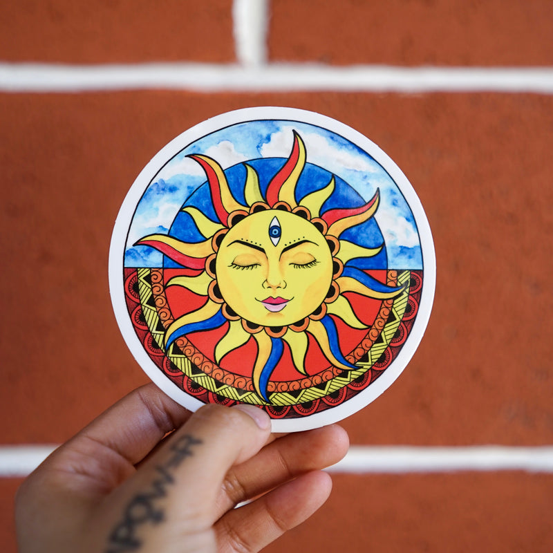 Sun & Moon (Set of 2 Stickers)