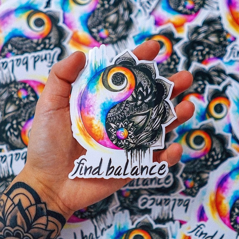Find Balance Sticker