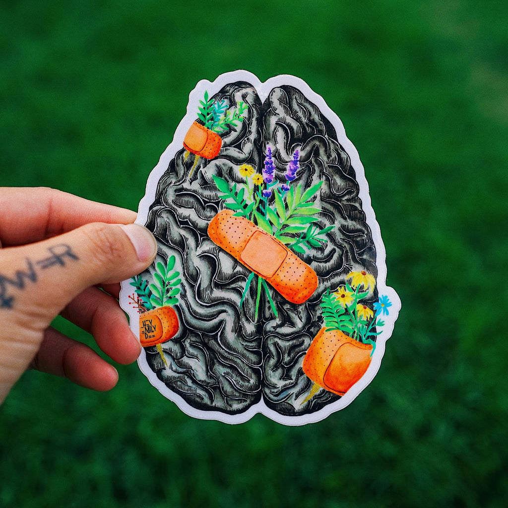 Healing Brain Sticker