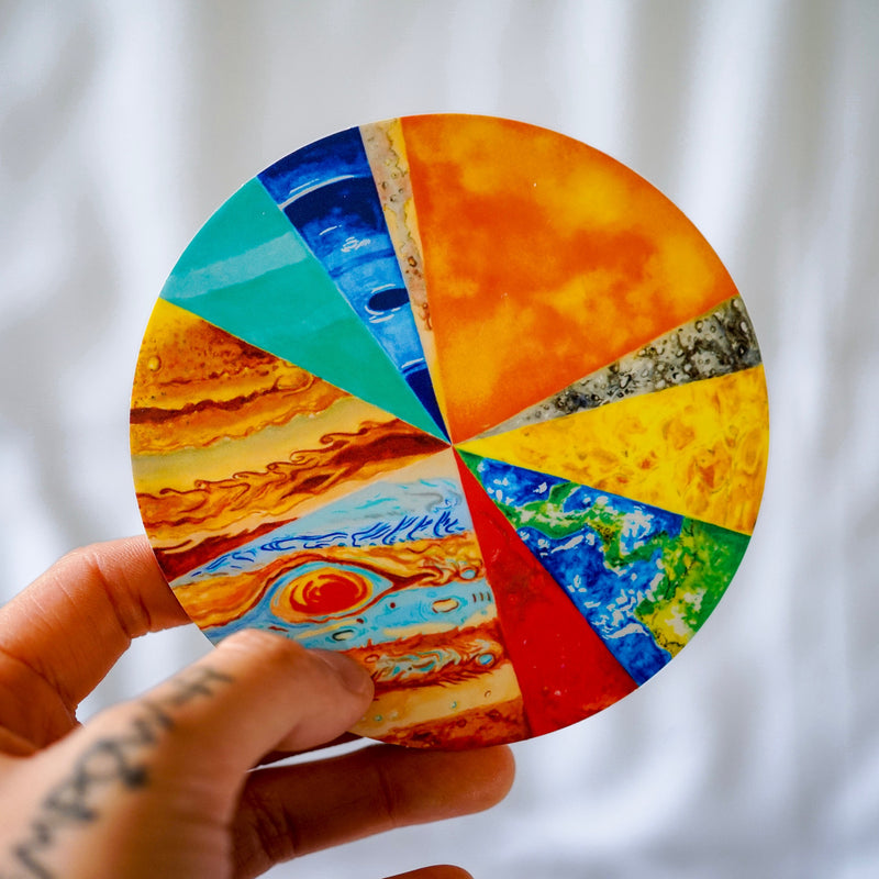 Pie Planets Sticker