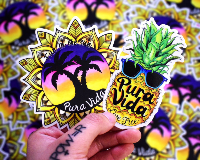 Pura Vida (Set of 2 Stickers)