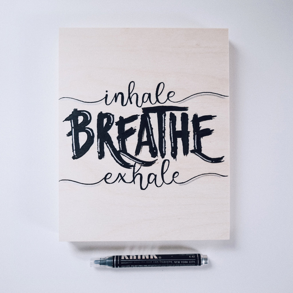 Inhale, Exhale, Breathe Canvas Painting