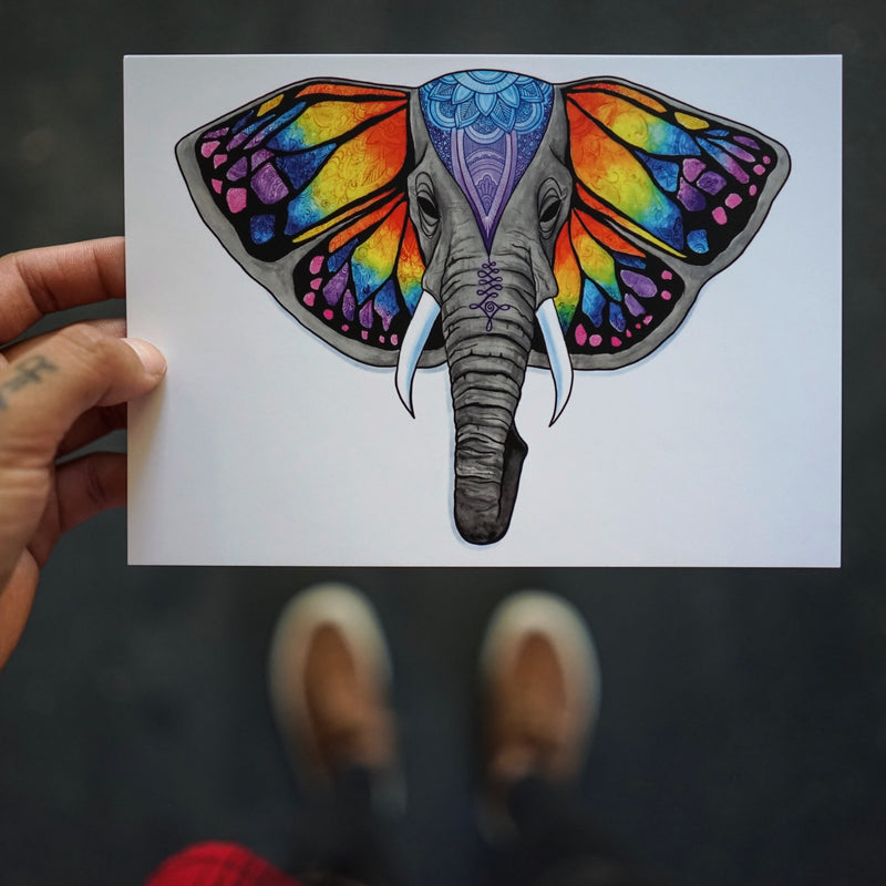 Elephant (Set of 2 Postcards)