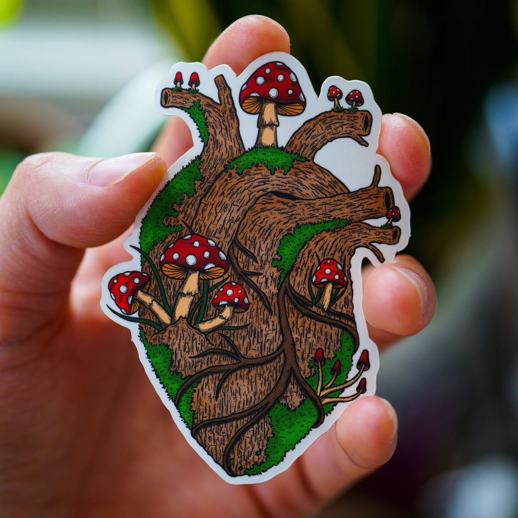 Tree Heart Sticker