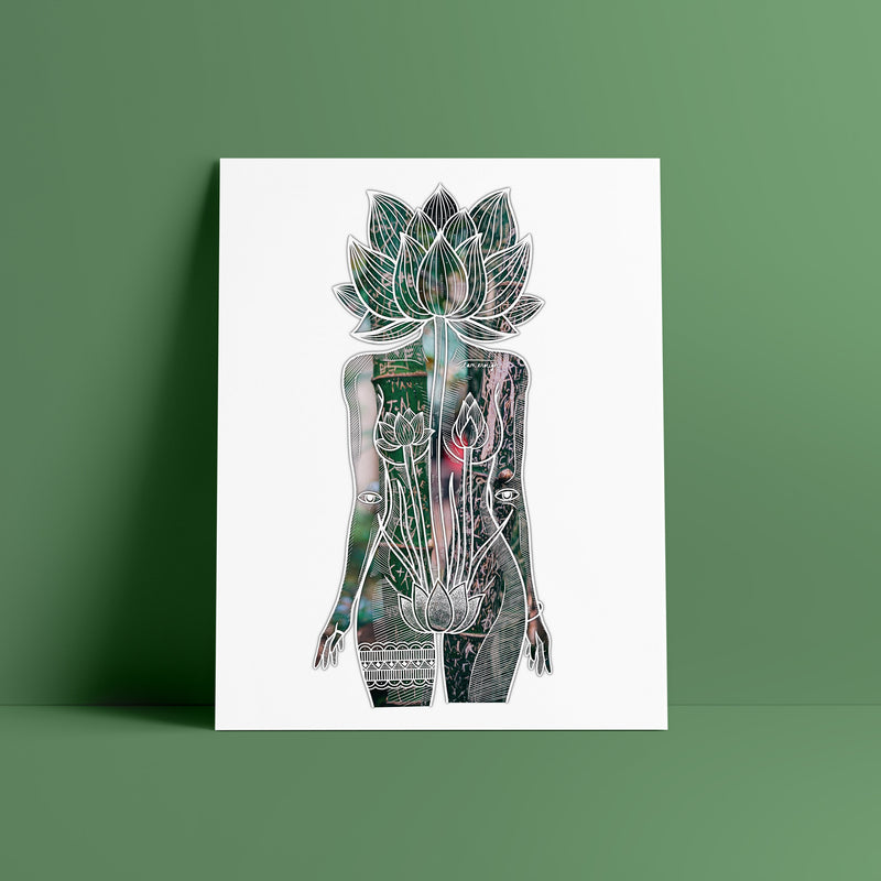 Flower Head Goddess Limited Edition (Set of 4 Prints)