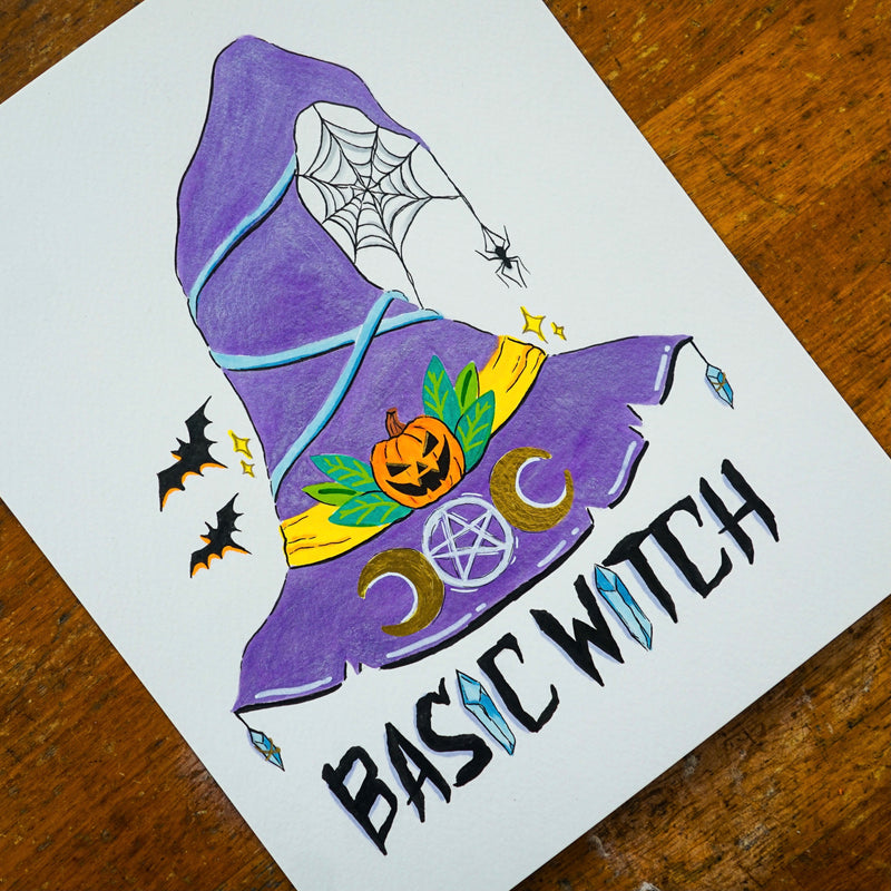 Basic Witch Original Drawing