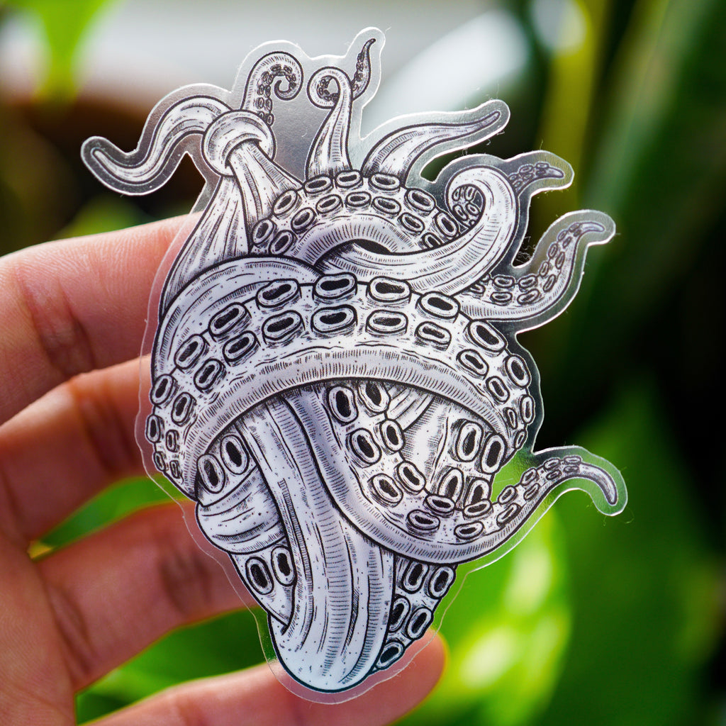 Tentacle Heart Sticker
