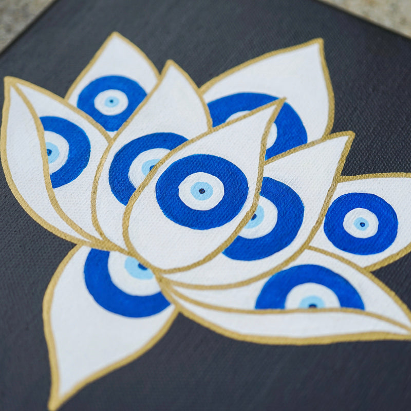 Evil Eye Lotus Painting