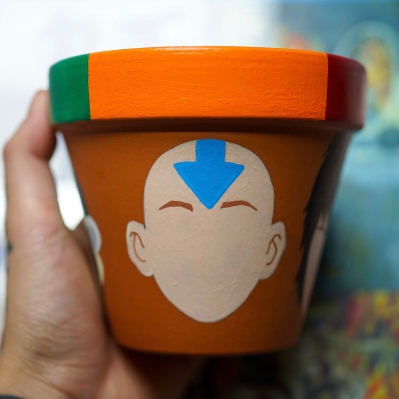 Avatar The Last Airbender Hand Painted Clay Pot