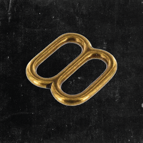 Double Loop Antique Brass 1""