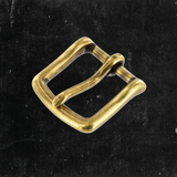 Heel Bar Buckle Antique Brass 1""