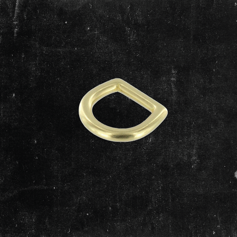 Bow D-Ring Solid Brass 5/8""