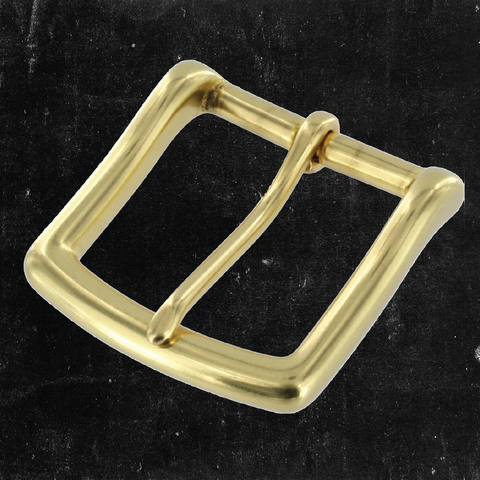 Heel Bar Buckle Solid Brass 1 1/2""