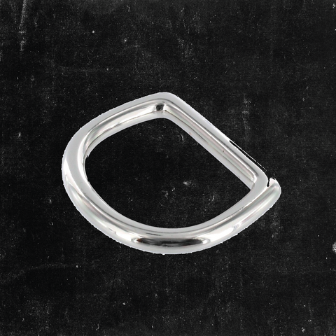 Bow D-Ring Nickel Plated 1 1/4""