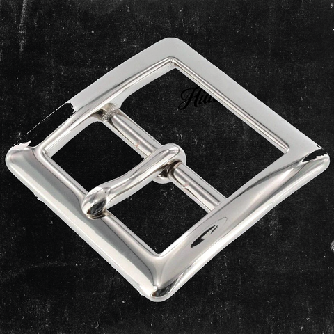 Center Bar Buckle Nickel Plated 1 1/2""