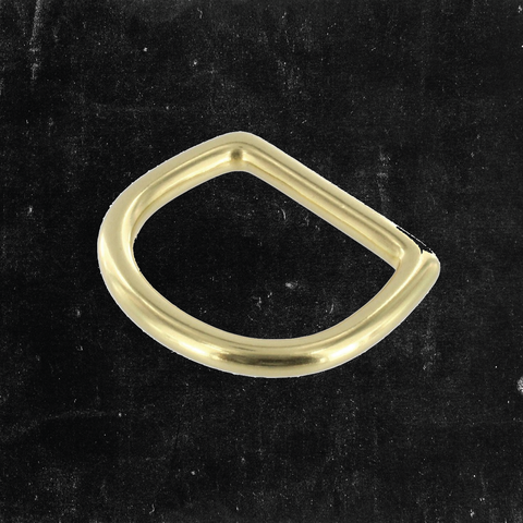Bow D-Ring Solid Brass 1 1/4""