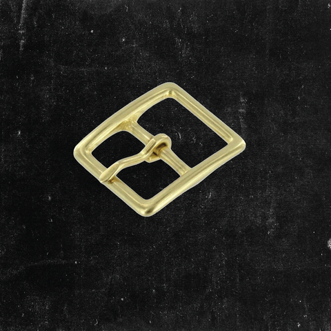 Center Bar Buckle Solid Brass 3/4""