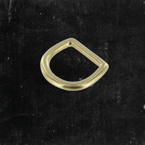 Bow D-Ring Solid Brass 3/4""