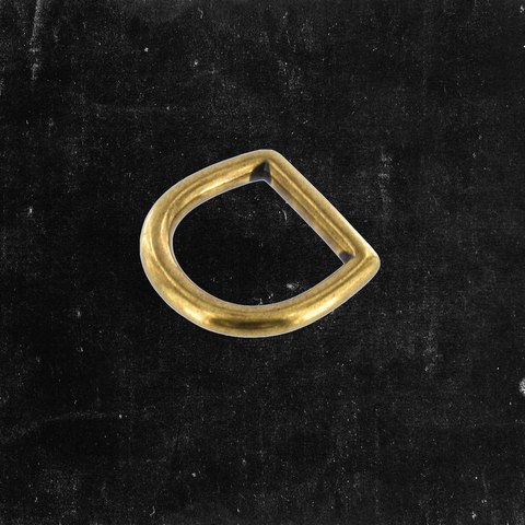 Bow D-Ring Antique Brass 3/4""