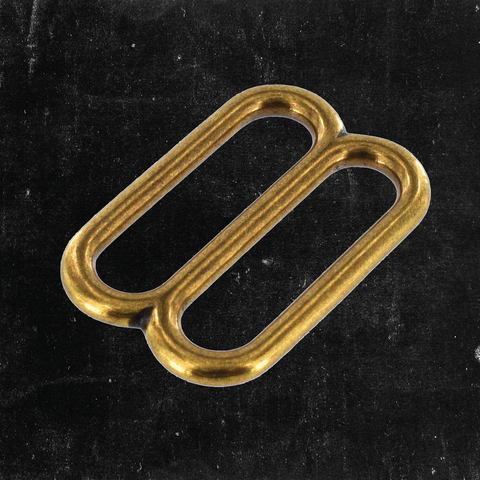 Double Loop Antique Brass 1 1/2""