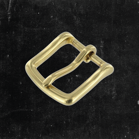 Heel Bar Buckle Solid Brass 1""
