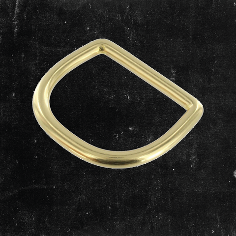 D-Ring Solid Brass 1 1/2""