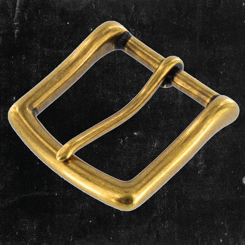 Heel Bar Buckle Antique Brass 1 1/2""