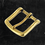 Heel Bar Buckle Antique Brass 1 1/4""