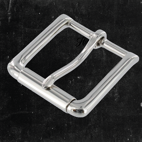 Roller/Heel Bar Buckle Nickel Plated 1 1/2""