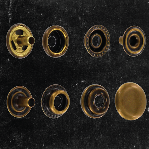Line 24 Snap Button Antique Brass (100pc)