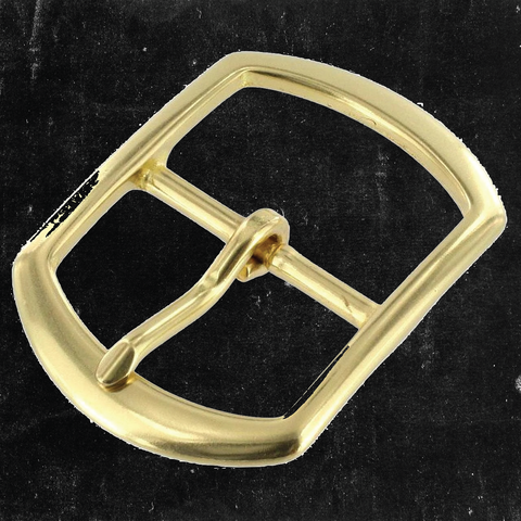 Center Bar Buckle Solid Brass 1 1/2""
