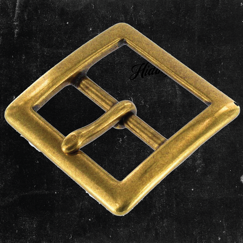 Center Bar Buckle Antique Brass 1 1/2""