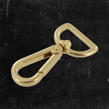Swivel Lever Snap Solid Brass 1""