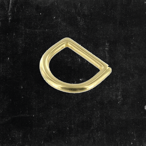 D-Ring Solid Brass 3/4""