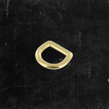 Bow D-Ring Solid Brass 1/2""