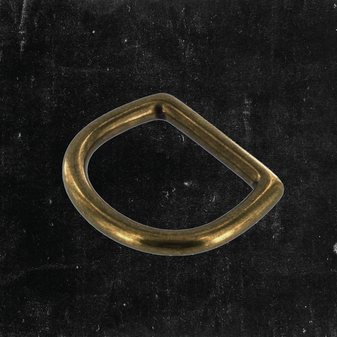 Bow D-Ring Antique Brass 1 1/4""