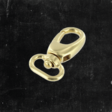 Swivel Lever Snap Solid Brass 5/8""