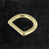 Bow D-Ring Solid Brass 1""