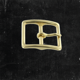Center Bar Buckle Solid Brass 1""