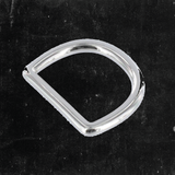 D-Ring Nickel Plated 1""