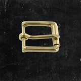 Roller/Heel Bar Buckle Solid Brass 1""
