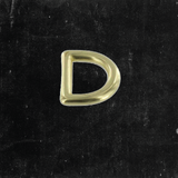 D-Ring Solid Brass 1/2""