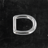 Bow D-Ring Nickel Plated 1""