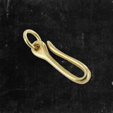 "Small Belt Hook 2"" w/Ring Solid Brass"