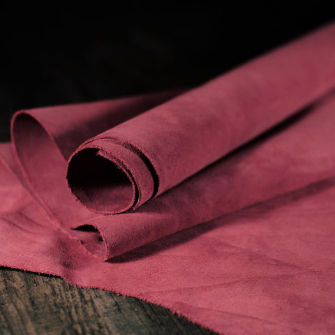 Law Tanning - Split Suede Burgundy 3-4oz