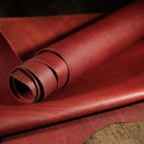 Horween Leather - Burgundy Football 4-5oz